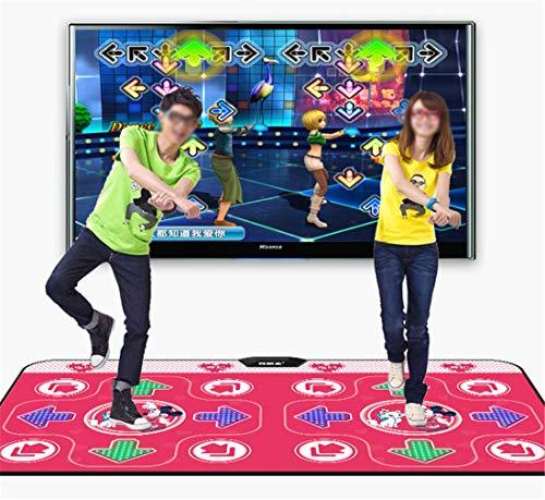 Skiout Double Dance Mats with Gamepad Dancing Blanket Dance Music Mixer Electronic Musical Play Mat for Adults/Children Tv Computer,D