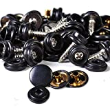 Daphot-Store - 25set Black Snap Button Screw Studs fit for Canvas Tent Canopy Fastener Sockets Boat Marine Cover
