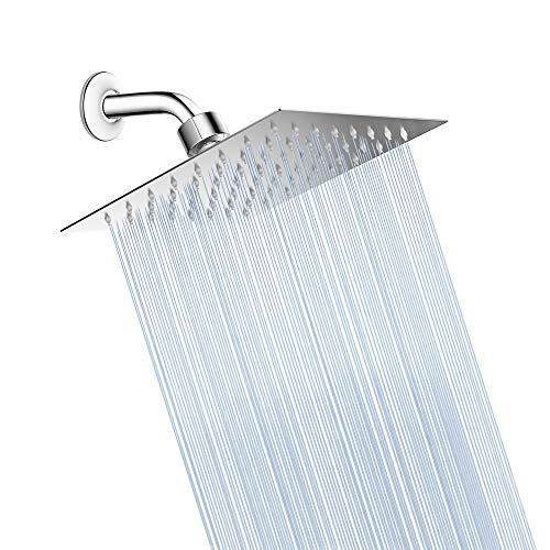 6 Inch High Pressure Shower head,Waterfall Shower head,Ultra Thin Design & Self-cleaning - Mirrors Cleaning Bathroom Self