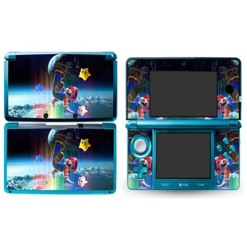 MARIO GALAXY B Design Nintendo 3DS Vinyl Skin Decal Sticker(Matte Finish)+ Free Screen Protector Set