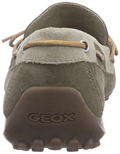 Geox U Snake Moc. I - Mocasines para hombre Beige (DOVE GREY/SHELLSC1B1V)