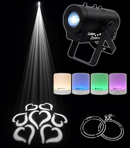 Chauvet-DJ-Gobo-Zoom-USB-Custom-Gobo-Projector-Light-W10-Gobos-Free-Speaker