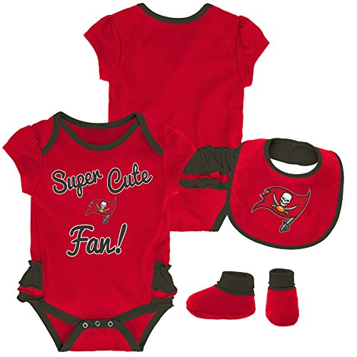 - Outerstuff NFL NFL Tampa Bay Buccaneers Newborn & Infant Mini Trifecta Bodysuit, Bib, and Bootie Set Red, 6-9 Months