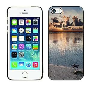 Paccase / SLIM PC / Aliminium Casa Carcasa Funda Case Cover - Nature Beach Star - Apple Iphone 5 / 5S