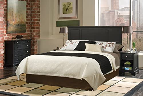 home, kitchen, furniture, bedroom furniture, beds, frames, bases, headboards, footboards,  headboards 2 picture Home Styles Bedford Black Queen Headboard with Raised in USA