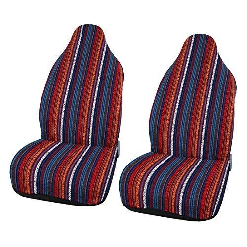 uxcell Set of 2 Universal Baja Blanket Car SUV Automotive Front Bucket Seat Cover Pad
