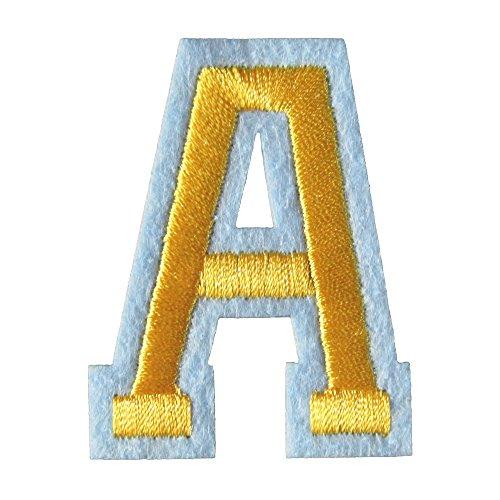 アイロンワッペン アルファベット A 金の商品画像