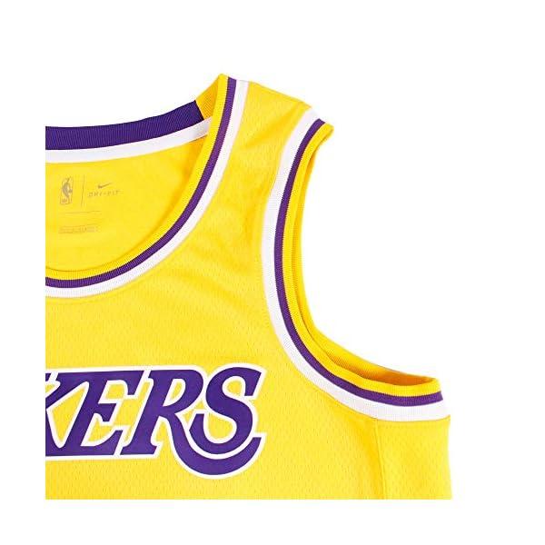 ed89a9fe9 Nike Mens Los Angeles Lakers Lebron James 2018-19 NBA Swingman Gold ...