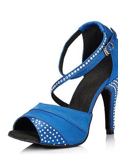 ShangYi Keine Maßfertigung möglich - Stöckelabsatz - - Leder / Lackleder - Stöckelabsatz Lateintanz - Damen Blau a16566