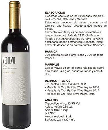 Vino Tinto Rioja Medievo Reserva 2014 (6)