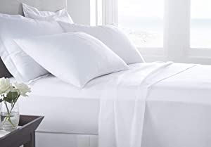 Kotton Culture 4 Piece Bed Sheet Set 100% Egyptian Cotton with 20 Inch Extra Deep Pocket 600 Thread Count Premium Super Soft Hotel Quality Bedding (King, White)…