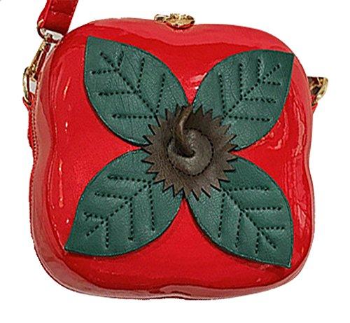 Bag Shape Persimmon Fruit Women's Purse Mini Crossbody Bag Shoulder Cute Red Bag Clutch Onfashion qw1Spn