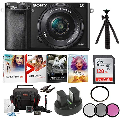 Sony Alpha a6000 Mirrorless Camera  with 16-50mm Lens Holida
