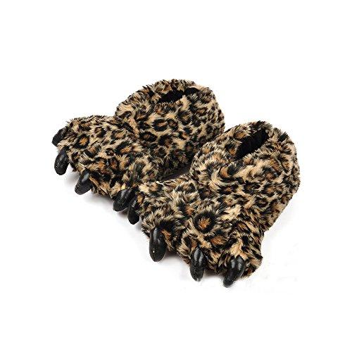 OCHENTA Zapatillas de Estar por Casa Hombre Leopardo