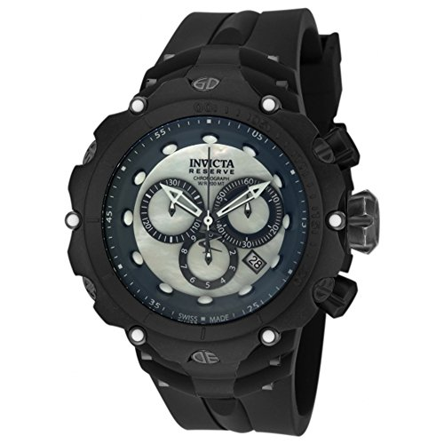 Invicta Distressed Metal Finish Reserve 52mm Venom Gen II Swiss Made Quartz Chronograph Silicone Strap Watch 18454 Invicta Reserve Venom