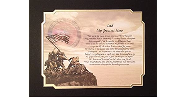 Amazon Marines Gift For Dad My Greatest Hero Birthday Veterans Day Military Posters Prints