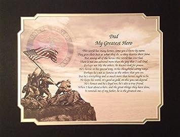 7a6f6763 Amazon.com: Marine's Gift for Dad My Greatest Hero Birthday Veterans ...