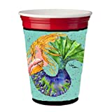Mermaid Blonde Mermaid Red Solo Cup Beverage Insulator Hugger