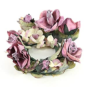 "Shinoda Design Center 4"" Beauty Rose & Hydrangea Candle Ring 68"