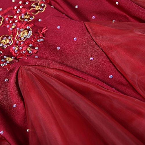 Sala Professionale Abiti Strass Moderno Burgundy Per Nazionale Colori Concorso Valzer Cuciture s Da Leotard Standard L Tuta Balli Con Wqwlf Prestazione Donne Costume A RWOpIqS