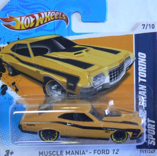 Hot Wheels Muscle Mania - Ford 12 (7/10) '72 Ford Gran Torino Sport (117/247) Short Card