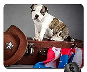 Little cowboy Mouse Pad, Mousepad (Dogs Mouse Pad, 10.2 x 8.3 x 0.12 inches)