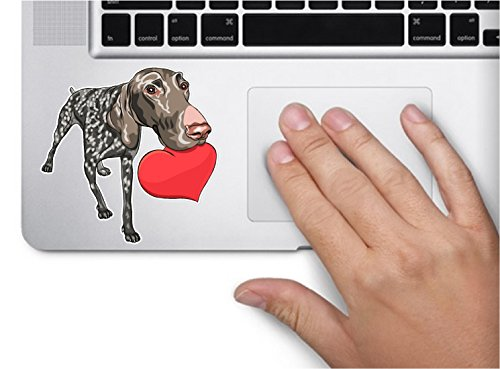 - Dog german shorthaired pointer heart 3.5x3.5 inches sticker decal die cut vinyl - Made and Shipped in USA