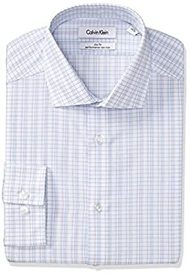 Calvin Klein Men's Slim Fit Non Iron Check Shirt