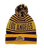 NBA Los Anggeles Lakers Pom/Cuffed Adidas Knit Hat - Osfa - KZD71