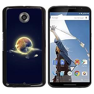 LECELL -- Funda protectora / Cubierta / Piel For Motorola NEXUS 6 / X / Moto X Pro -- Cool World Earth Sky Space Nature --
