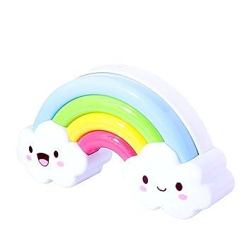 Vicloon Batterie Regenbogen LED Nachtlicht Lampe Sprachsteuerung Nachtlichtfr Kinderzimmer Flur