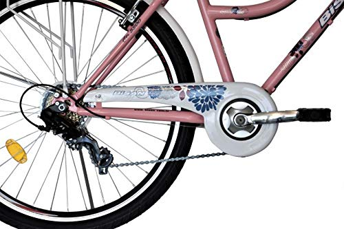 T/&Y Trade 26 Zoll Kinder M/ädchen Damen City Fahrrad Damenfahrrad Cityfahrrad Citybike M/ädchenfahrrad Bike Rad 7 Gang 5300 Pink