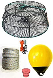 KUFA Sports Tower Style Vinyl Coated Prawn Trap with Prawn Trap Accessory Combo(CT78+PAQ30Y+HA2)