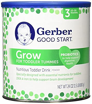 Gerber Good Start Grow Toddler Drink Powder Stage 3, 24 Ounce by Nestle
