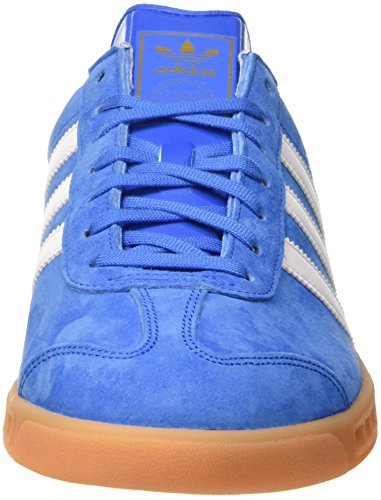 adidas Hamburg, Scarpe da Ginnastica Basse Uomo Blu (Bluebird/Ftwr White/Gum)