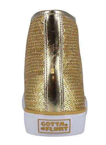 Devo Flurt Hi Disco Ii Lace Up Top Sneaker Oro