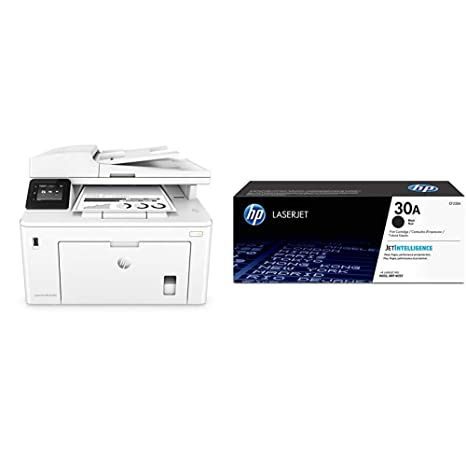 HP LaserJet Pro M227fdn All in One Laser Printer with Print Security (G3Q79A) with Standard Yield Black Toner Cartridge