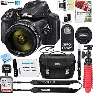 Nikon COOLPIX P900 16MP 83x Optical VR Zoom Digital Camera (Certified Refurbished) + 16GB Memory & Accessory Bundle