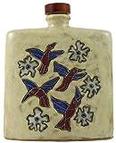 Mara Ceramic Stoneware 24 Oz. Hummingbird Tan Square Decanter