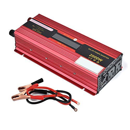 Price comparison product image CAPTIANKN Power Inverter 900W,  Peak 2000 Watts 12VDC to 110V,  2 US Standard AC Sockets 1 USB Port