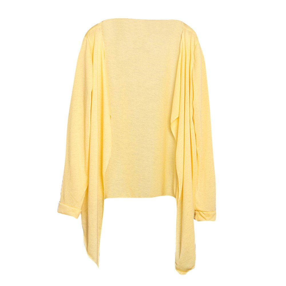 YAliDa 2019 clearance sale Summer Women Long Thin Cardigan Modal Sun Protection Clothing Tops N(One Size,Yellow-b )