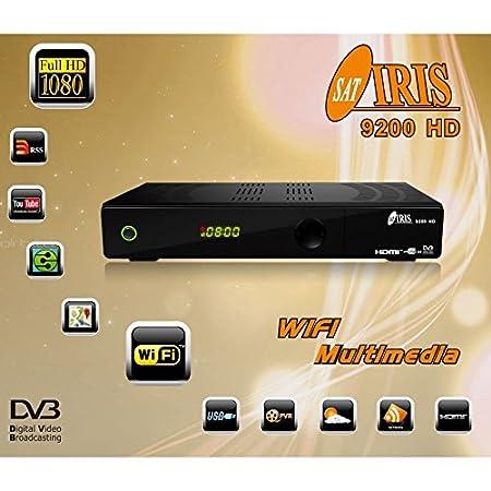 Iris Receptor de TV por satélite WiFi HDMI DVB S Full HD
