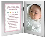 Baptism Gift for Baby Girl - Add Photo to Double Frame