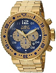 Invicta Mens Pro Diver Quartz Stainless Steel Casual Watch, Color:Gold-Toned (Model: 25077)