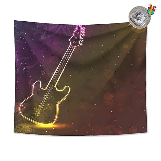 Enhome Tapiz Pared Decoracion Grande, 3D Guitarra Estampado ...