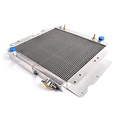 2 Row Core Full Aluminum Racing Performance Radiator Replacement For 1987-2006 Jeep Wrangler YJ TJ 2.4L-4.2L 2.5L 4.0L L4 L6 Silver 1988 1990 2004: Automotive