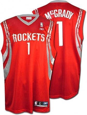 1f783eed238 Amazon.com   Tracy McGrady Red Reebok NBA Replica Houston Rockets Jersey -  Medium   Clothing