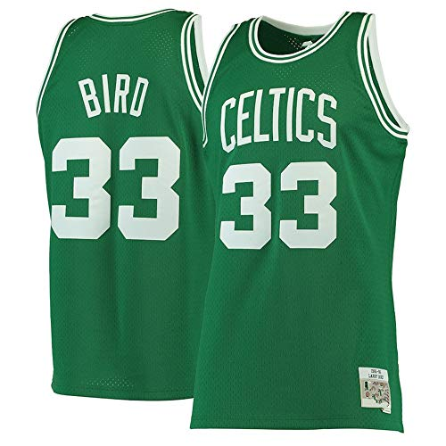 Colrlel Men's #33_Larry_Bird_Boston_Celtics_Kelly Green 1985-86 Hardwood Classics Swingman Jersey (2XL)