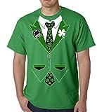 Irish Shamrock Tie Tuxedo T-Shirt #13A