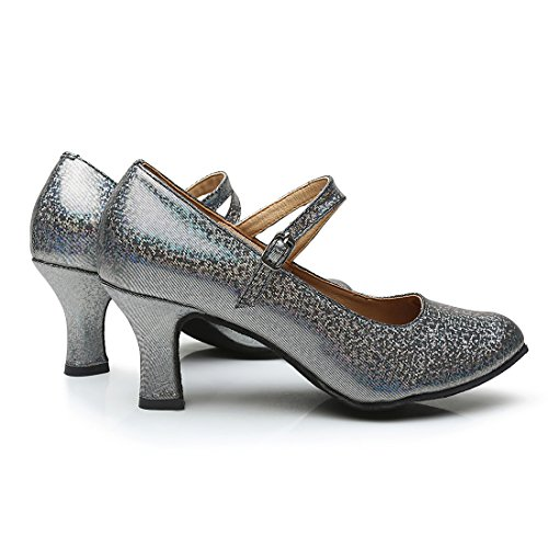 Sandales de Chaussures Danse Hauts Noir Talons VASHCAMER pour Femme 5qXRpwcxO